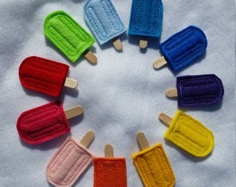 Embroidered Popsicle Hair Clip