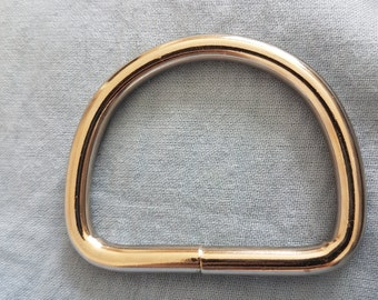 2 Inch Wide Steel D Ring Purse Collar