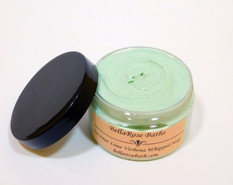 Coconut Lime Verbena Whipped Soap | Whipped Sugar, Body Wash, Creamy, Fluffy, Soap in a Jar, Exfoliating, Shaving Cream, Gifts