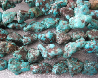 Turquoise Nuggets Beads 34pcs