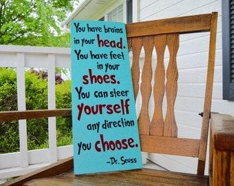 Dr. Seuss Sign - Wood Sign