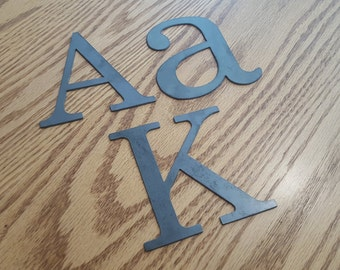 "4"" Metal letters, numbers and signs (4 inch tall)"
