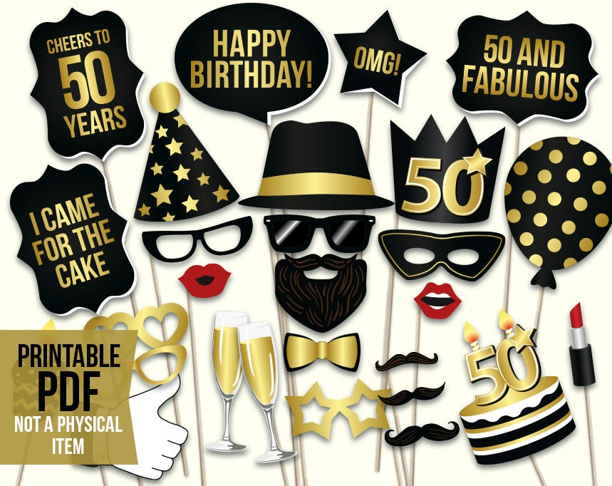 50th birthday party | Etsy