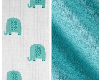 Riley Blake Double Gauze Elephant Bundle - One Yard of Each Fabric