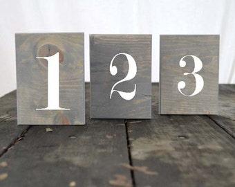 Set of 10 Rustic Wedding Table Numbers, Block Table Numbers, Rustic Wedding Decor, Spring Wedding, Summer Wedding, Wedding Tables