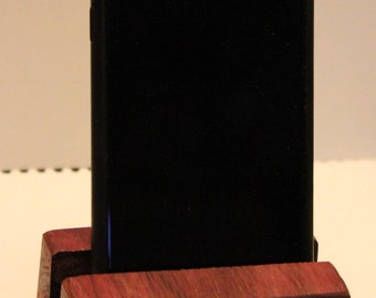 Wood iPhone Stand - Exotic Purpleheart