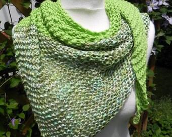 handknit shawl KNITTING cloth scarf silk scarf cotton