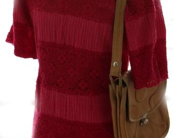Vintage Fuschia Pink Lace Dress