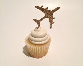 Airplane Cupcake Topper