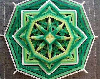 "Mandala Ojo de Dios ""Chakra project - Green"""
