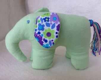 Stuffed elephant, cotton stuffed animal, elephant plushie, cotton elephant  toy