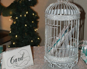 Wedding Card Holder/Box......Bling Birdcage with Tented Bling Sign, Card Holder, Gift table, Gift table, Wedding gift, Wedding presents