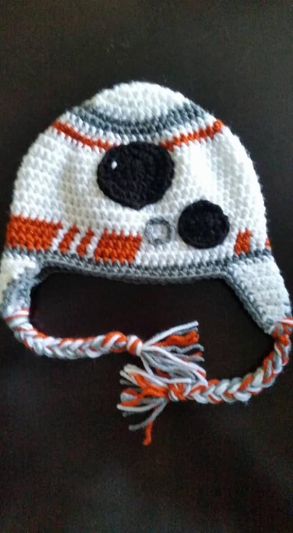 Free Star Wars Bb 8 Crochet Pattern : BB8 Hat/BB8 Crochet Hat/Star Wars Hat/Star Wars Crocheted Hat