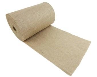 """100 Yards - 8"""" Premium Burlap Roll -- Eco-Friendly Natural Jute Burlap Fabric - 300 Foot - 8 Inch Wide"""
