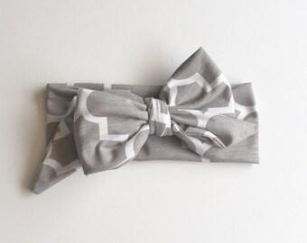 Baby girl headwrap, toddler headwrap, headband, big bow
