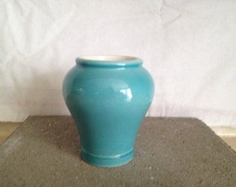 Fortmum and Mason Small Blue Vase, 1980s.
