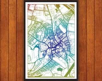 Northampton Massachusetts Map, Noho Wall Print