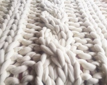 Popular Items For Cable Knit Blanket On Etsy