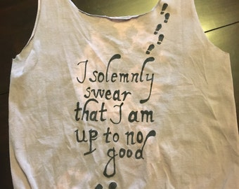 I Solemnly Swear that I am up to no Good tote no-sew t-shirt bag