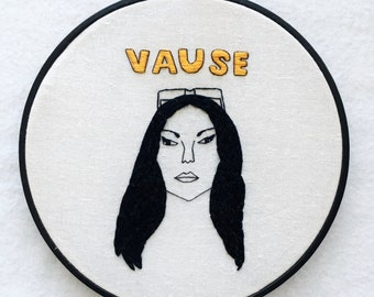 Alex Vause Orange Is The New Black Hand Embroidery Hoop Art
