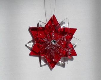 fused glass suncatcher, ornament