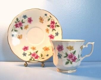 Floral Cup & Saucer