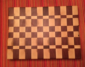 Hand made end grain cutting board