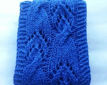 SALE 50% Knitted scarf,  women spring scarf, blue scarf for women for spring, openwork scarf, gift for her, female long scarf, scarf knitted