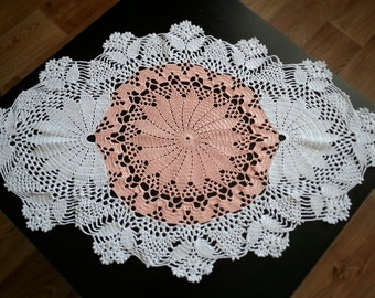 SALE 10 % crochet  doily, oval crochet cotton doily, lace crochet doily, crochet hand tablecloth, gift mother, beautiful tablecloth hand buy