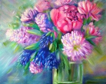 "Original painting ""Morning bouquet"""