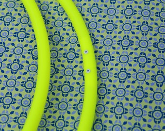 UV Yellow 3/4 Poly Pro Hula Hoop