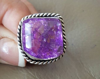 Snakeskin Quartz Ring-size 7.5!