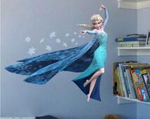Elsa Wall Decal; Frozen Wall Decal; Wall Sticker; Disney Wall Sticker