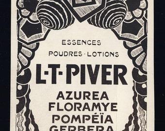 Original Vintage 1924 Art Deco Advert for L.T.PIVER Cosmetics (4 3/8'x6' - 11x15 cm