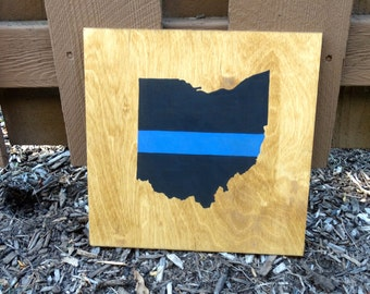 Thin Blue Line State/USA Outline
