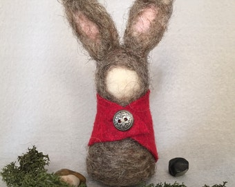 """Woodland Creature """"Tink"""", Creature of the Wood, Needle Felted Woodland, Rabbit, Waldorf Inspired, Imaginative Play, Forest Animal"""