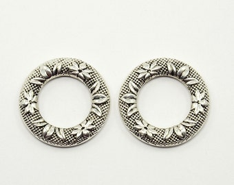 25 mm x 4 mm Tibetan Style Donut Connectors  (1023)