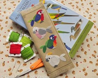 Australian Parrots Bookmark Cross Stitch Pattern PDF   Cute Little Bird   Easy   Modern   Beginners Counted Cross Stitch   Instant Download