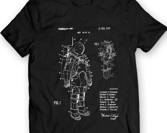 Space Suit NASA Patent 1968 T-Shirt Mens Gift Idea Astronaut Tee Holiday Gift Birthday Present