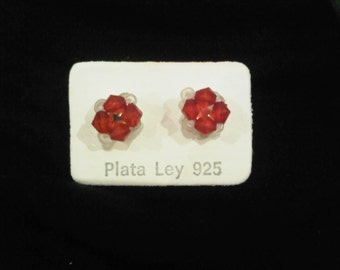 Earrings with beads and bath silver wholesale