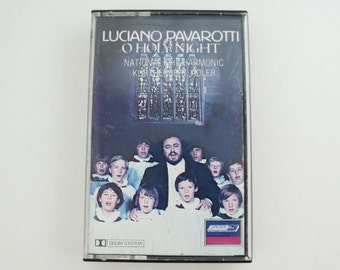 Luciano Pavarotti O HOLY NIGHT Vintage Music Cassette Tape 1980S