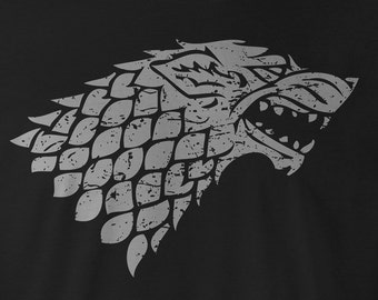 Game of Thrones Shirt, Game of Thrones Stark Tee, Game of Thrones Stark T-Shirt, Game of Thrones Stark logo, Game of Thrones Stark Tees