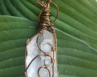 Quartz Crystal Wire Wrapped Pendant/Wand