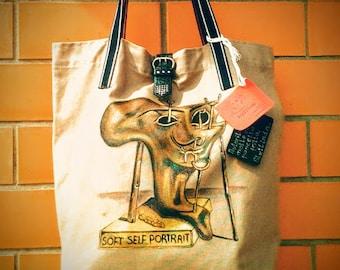 Hand painted purse Salvador Dali