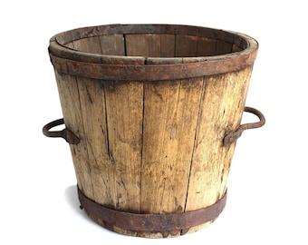 Antique wooden bucket