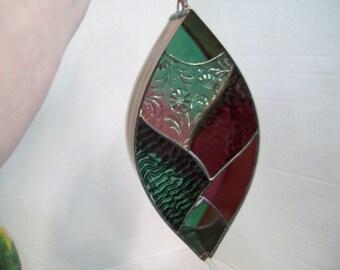 Brass & Stained Glass Bird Feeder, Birdfeeder