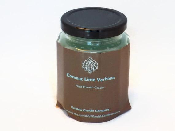 Coconut Lime Verbena Scented Candle 9 oz Twelve Sided Jar