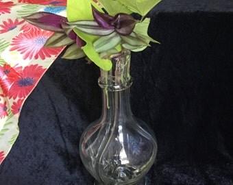 Vintage Glass Flower Frog Vase from France