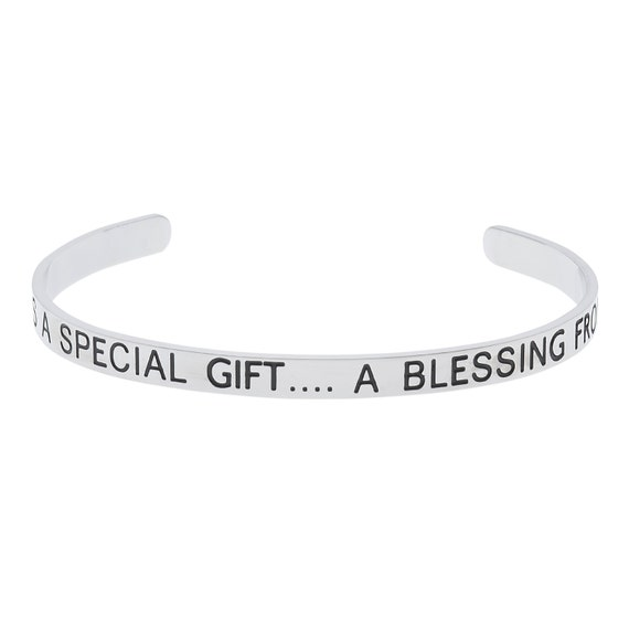 "Stainless Steel ""A Friend is A Special Gift...A Blessing From Above"" Friendship Bracelet"