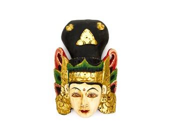 Carved Indonesian Wood Decorative Folk Art Mask